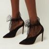 дантелени обувки с висок ток