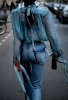 копринена блуза на точки