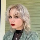 прическа Вълчица тънка коса