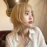прическа Вълчица руса коса