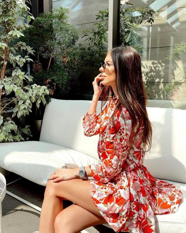 лятна рокля с принт