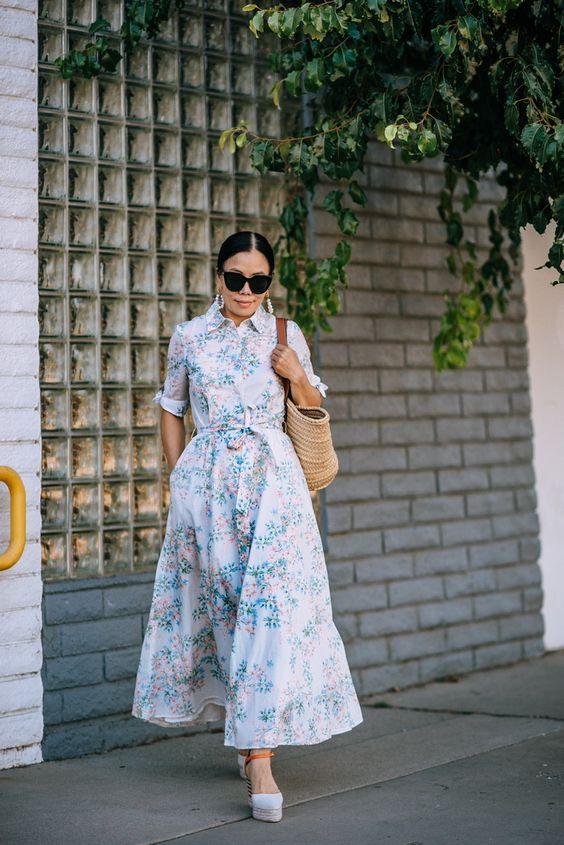 флорална дълга рокля