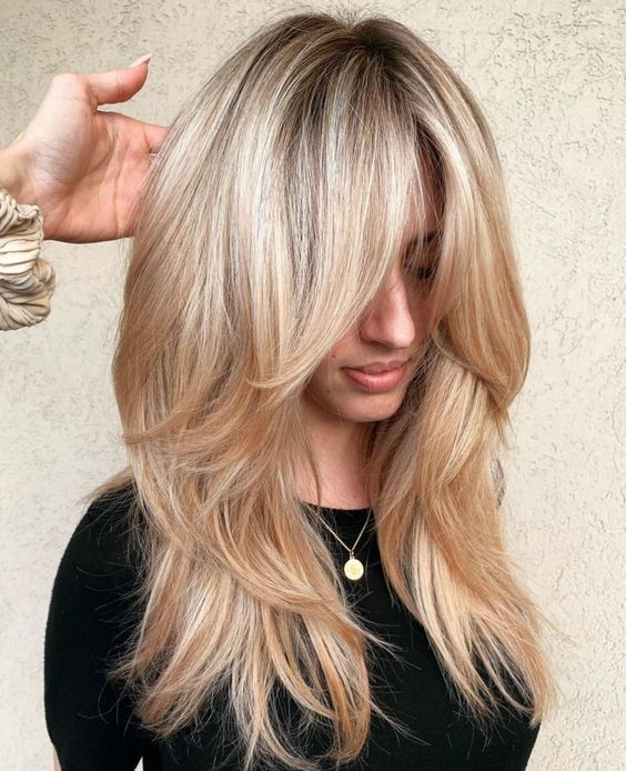 прическа Италианка на дълга коса