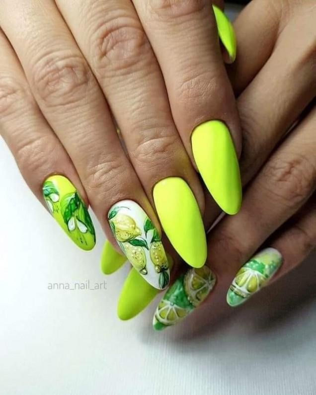 маникюр лимон