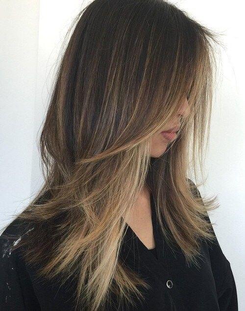 прическа стълба тънка коса