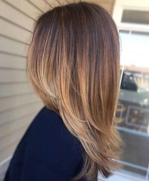 каскадна прическа средна коса