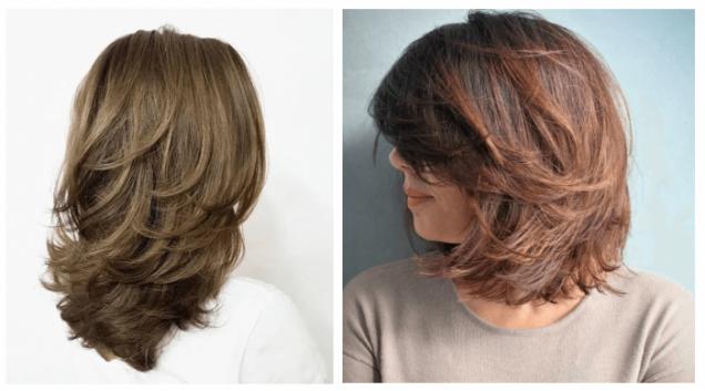 средна каскада тънка коса