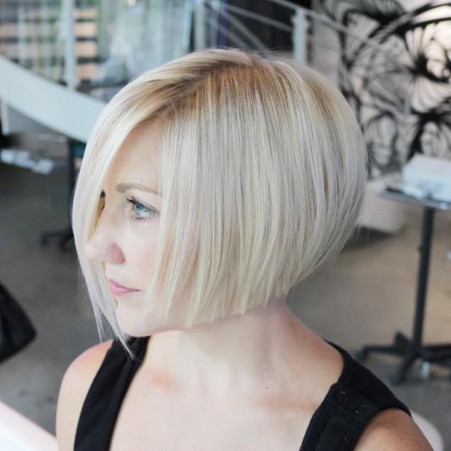 стилен боб тънка коса