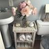 шкафче за баня от щайги
