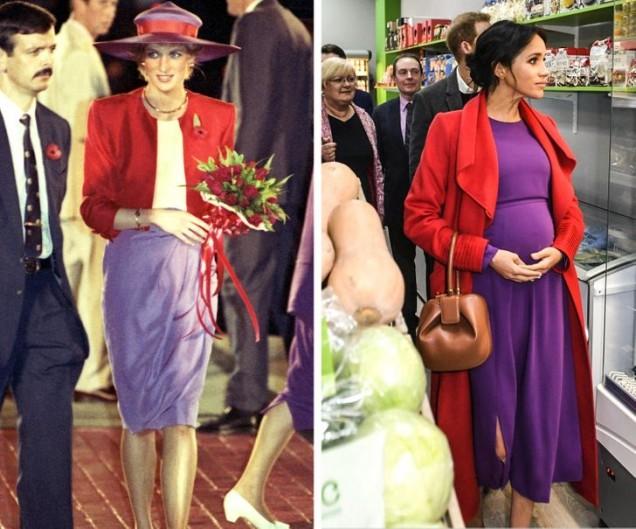 принцеса Даяна модни комбинации