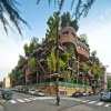 Торино сграда с дървета