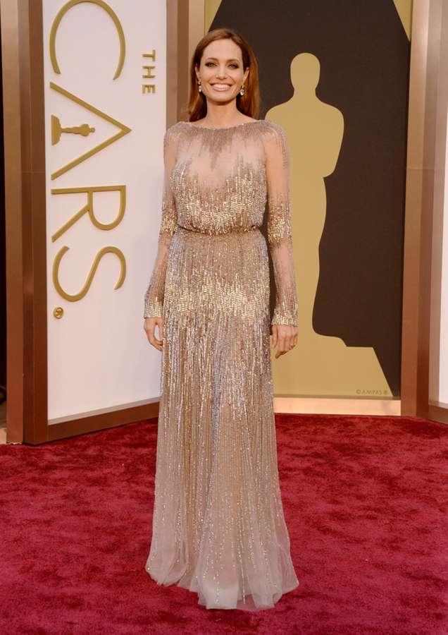 Анджелина Джоли на Оскарите 2014