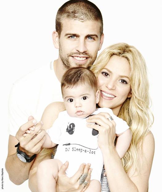 Шакира и Жерар Пике с бебето им