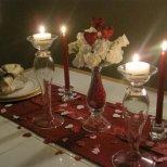Украса за вечеря на свещи на Свети Валентин