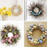 Великденски венци с яйца