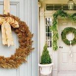 Коледна украса за входната врата - красиви венци