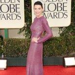 Джулиана Маргулес в супер стилна лилава дълга рокля Naeem Khan