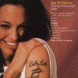 Татуировката в чест на бившия съпруг на Анджелина е закрита от нова татуировка - координати