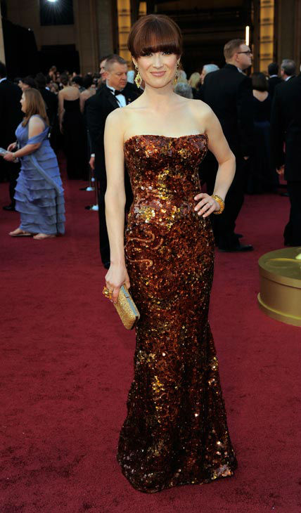 Ели Кемпър в блестяща рокля Armani Оскари 2012