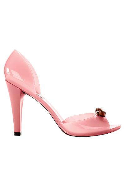 Отворени бебешко розови обувки на ток Furla Пролет-Лято 2012