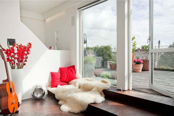 Интериор за малък апартамент с тераса