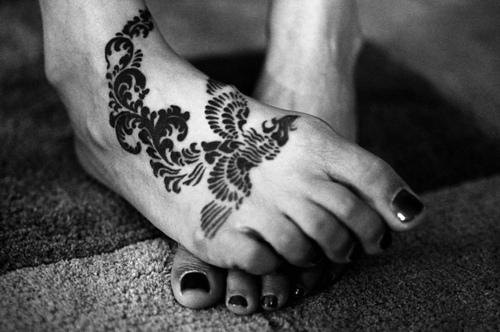 Татуировка на ходилото