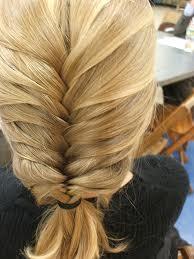 Прическа египетска плитка за руса коса