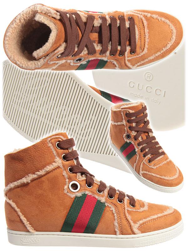 Зимни спортни обувки с пух Gucci 2012