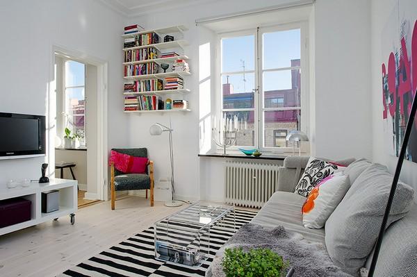 Интериор за малък апартамент с няколко акцента