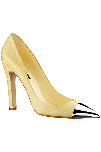Пролетни жълти обувки на ток  Louis Vuitton Пролет-Лято 2012
