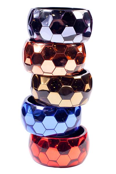 Блестящи цветни гривни с повърхност като диско топка Sonia Rikyel Есен-Зима 2011