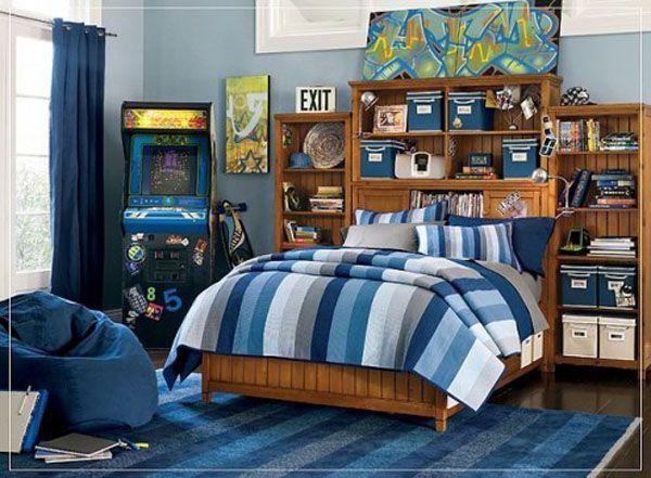 Детска стая за момче с легло в секция