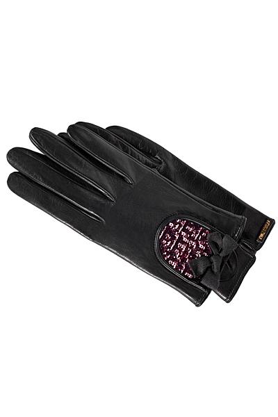 Черни кожени ръкавици къси Miu Miu Есен-Зима 2011
