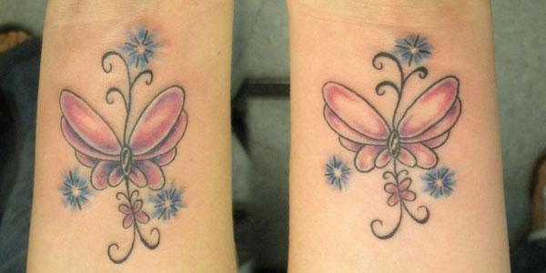 Татуировки нежни пеперуди
