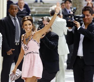Ева Лонгория в розова рокля