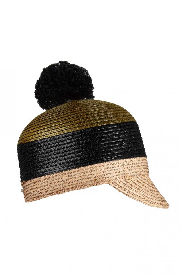 Сламена шапка с малка козирка с пискюл Burberry Prorsum пролет лято 2012