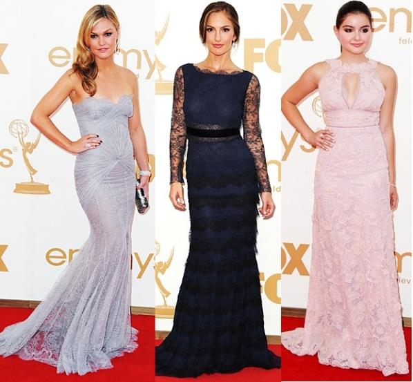 Дълги рокли дантела от наградите Emmy - Джулия Стайлс, Минка Кели, Ариел Уинтър