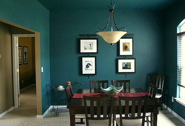 Дизайн за трапезария малка с тъмни стени