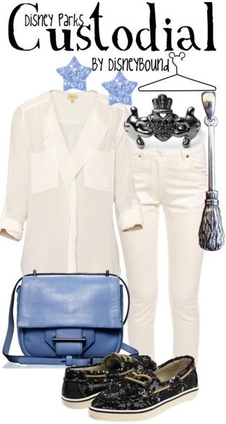 Фешън сет с дънки и риза в бяло и цветни аксесоари