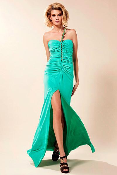 Дълга вечерна рокля в зелено Предпролетна колекция Blumarine за 2012