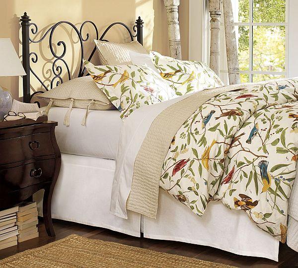 Спално бельо с пролетно настроение с принт птици