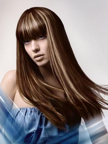 Прическа със сешоар или преса коса