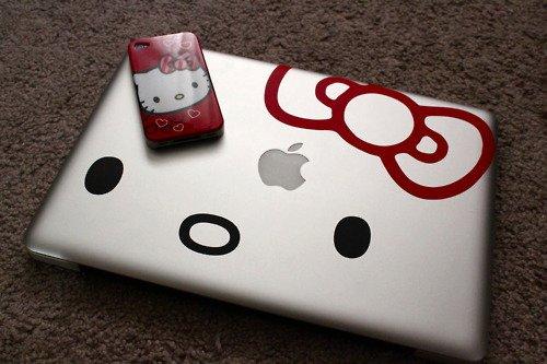 Сив металик Macbook Hello Kitty