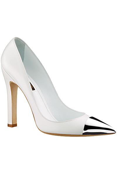 Елегантни обувки на ток в бяло  Louis Vuitton Пролет-Лято 2012