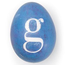Великденско яйце със стикер g