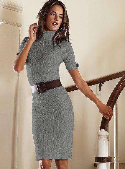 Плетена рокля с поло яка и колан на кръста Victoria's Secret