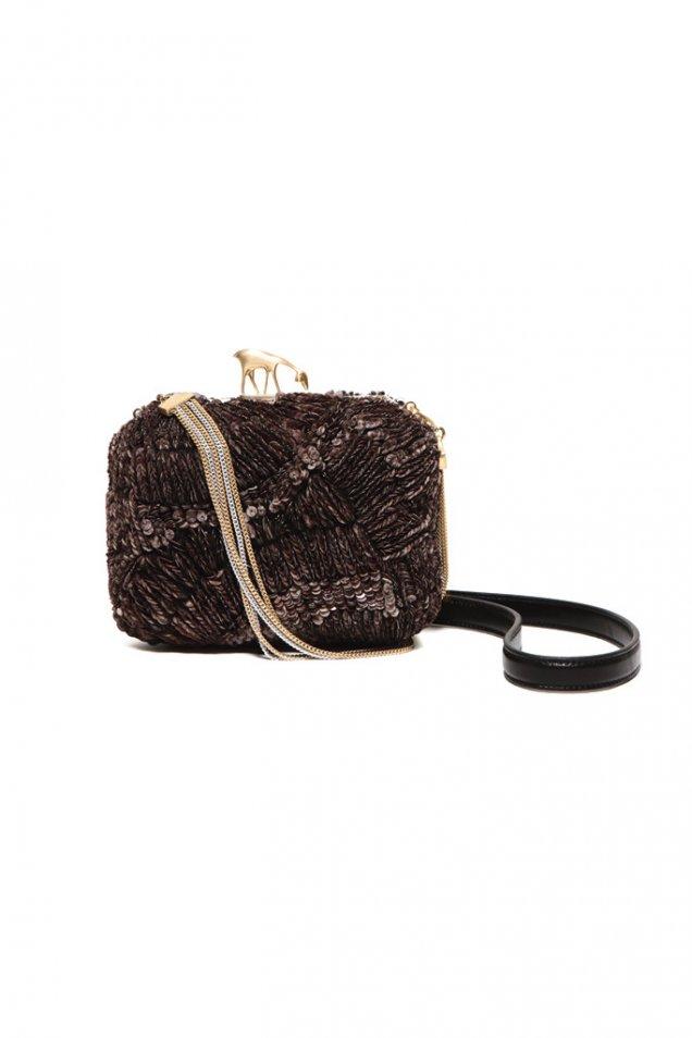 Вечерна чанта с мъниста и пайети Bally пролет 2012
