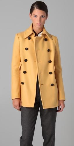 6776fc4e4f4 Бледо жълто двуредо палто Dsquared2 зима 2011 2012
