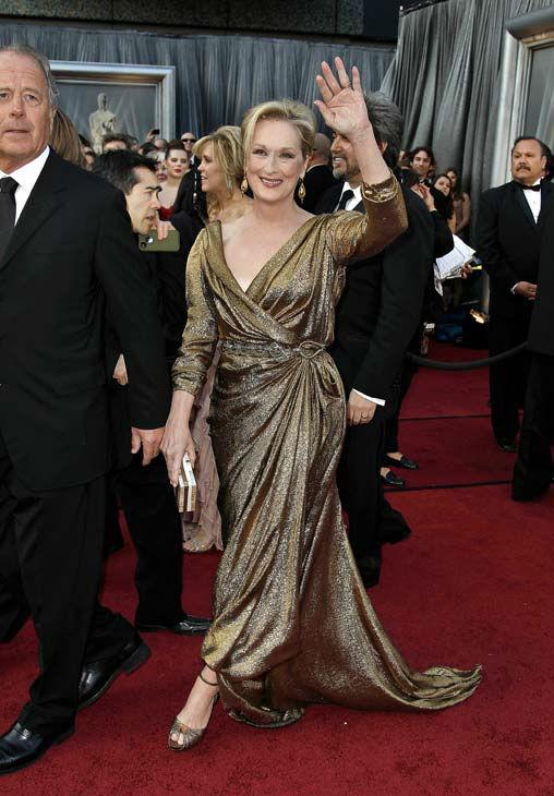 Мерил Стрийп в блестяща рокля Lanvin Оскари 2012
