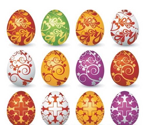 Великденски яйца с много красиви рисунки